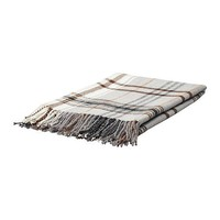HERMINE Throw - beige/brown  - IKEA