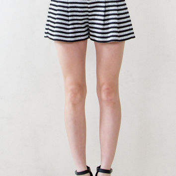 Sugar Lips Catch Me if You Can High Waist Pleated Shorts