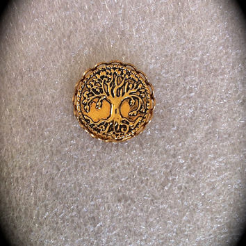 Mens Celtic Tree of Life Lapel Pin, Elvish Jewelry, Elven Tie Tack LOTR, Unisex Accessory, Irish Jewelry, Groomsmen Gift, Bohemian Bridal