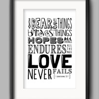Printable Love Never Fails Poster