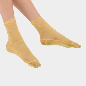 Mesh Socks in Yellow