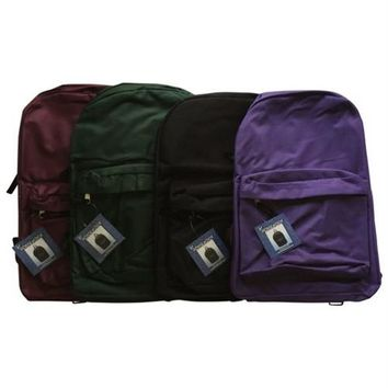 "*BACKPACKS 15"" 9 ASSORTED COLORS"