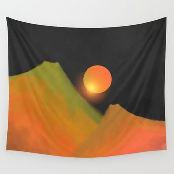Minimal mountains Wall Tapestry by vivianagonzlez