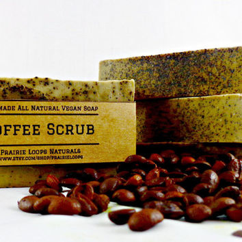 Coffee Scrub Soap - Exfoliating soap, Soap, All Natural Soap, Vegan Soap, Organic, Kitchen Soap, Bath Soap