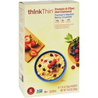 Think Products Oatmeal - Protein And Fiber Hot - Thinkthin - Farmers Market Berry Crumble - Box - 10.6 Oz - Case Of 12