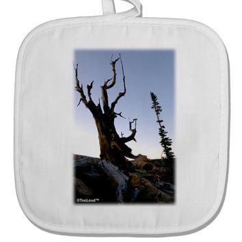 Colorado Mountain Scenery White Fabric Pot Holder Hot Pad by TooLoud