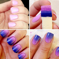 5PCS Nail Art Soft Sponge Stamp Polish Transfer DIY Manicure Gradient Color Creative Hot Free shipping