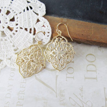 pre-order GYPSY open filigree earrings (gold)