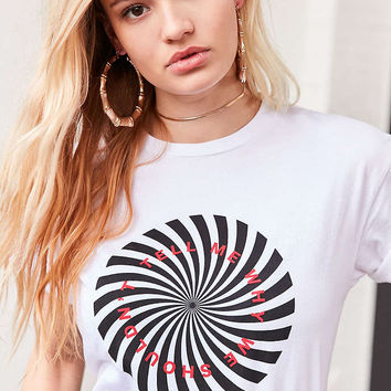 Spiral Text Tee - Urban Outfitters