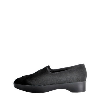 Robert Clergerie Vintage Black Stretch Platform Slip On Shoes