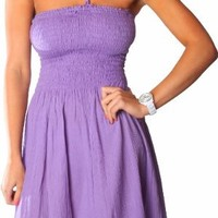 One-size-fits-all Ruffled Tube Dress/Coverup