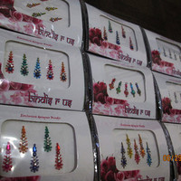 3 Pack Bindi Face Jewelry Gems Jewels/Fancy Bindis Pack/Bollywood Bindi Stickers/Multi Color Bindis/Eye Forehead Belly Dance Jewelry