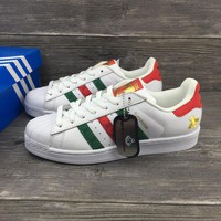 GUCCI x Adidas superstar 3M Men Women Sneaker