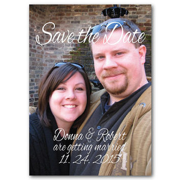 Printable Save the DateTemplate - Personalize with picture - Printable File - DIY - 5 x 7
