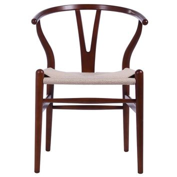Wishbone Chair CH24 Y Chair - Light Walnut & Natural Paper Cord - Reproduction