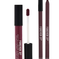Liquid Lipstick And Liner Set