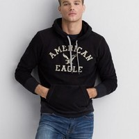 AEO Signature Graphic Hoodie , Fleet Navy | American Eagle Outfitters
