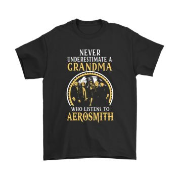 QIYIF Never Underestimate Grandma Who Listens To Aerosmith Shirts