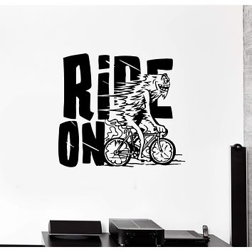 Wall Decal Road Riding Bicycle Sport Decor Phrase Vinyl Sticker (ed1013)