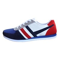 Men Sneakers Shoes Flats 2019 New Fashion Lace Up Sports Loafers Casual Sneakers Flat Canvas Casual Shoes High Quality Flats