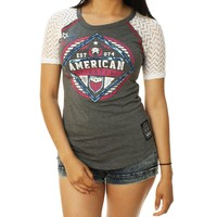 American Fighter Women's Fort Valley 1/2 Raglan Graphic T-Shirt