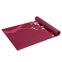 Gaiam Cherry Blossom 3-mm Thick Yoga Mat (Pink)