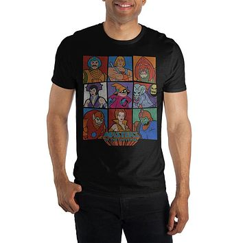 MOTU Masters Of The Universe Characters Men's Black T-Shirt Tee Shirt