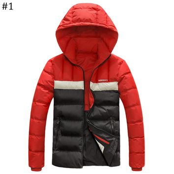 ADIDAS winter new lightweight down jacket coat hooded windproof warm cotton clothing #1