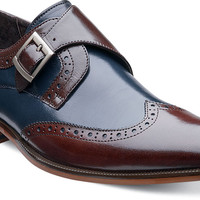Stratford wing tip monk strap by Stacy Adams