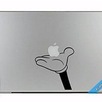 MacBook TV Commercial Cartoon Mickey Hand Holding Apple Overlay Vinyl Decal Sticker Skin Mac Book Air Pro Laptop Notebook People Love