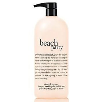 philosophy super-size beach party 3-in-1 shower gel, 32 oz. — QVC.com