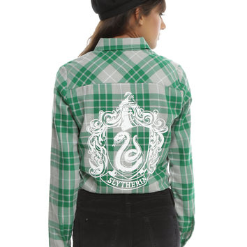 Harry Potter Slytherin Plaid Girls Woven
