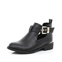 River Island Womens Black cut out ankle boots