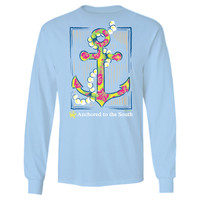 Itsa girl Thing Straight Up Southern Collection Anchor South Blue Bright Long Sleeves T Shirt