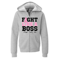 Breast Cancer Fight Like a Boss hooded jacket