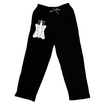 Golden Fleece Black and White Design Adult Lounge Pants - Black by TooLoud