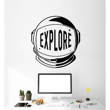 Vinyl Wall Decal Spaceman Explore Astronaut Space Galaxy Universe Stickers Mural (g1012)