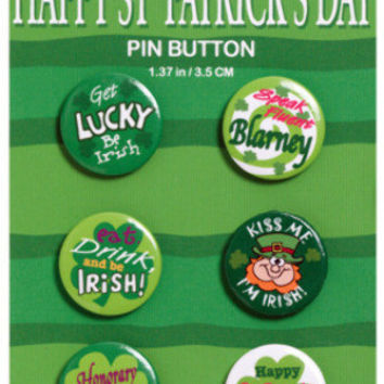 st. patrick's day buttons Case of 24