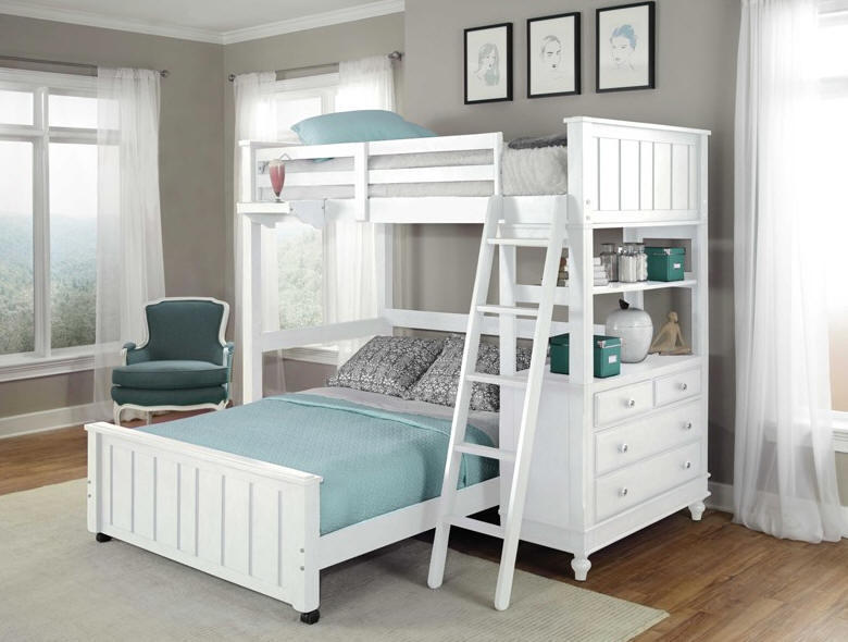 Park Place Twin Size L Shape Loft Bed from Totally Kids fun