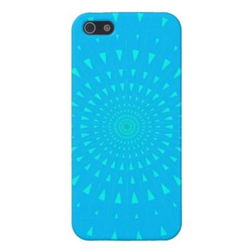 baby blue and turquoise psychedelic burst
