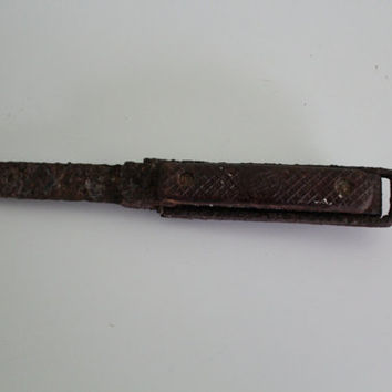 Antique Metal Rustic Knife, Collectible Rustic Decor