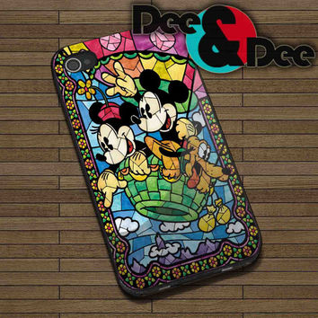 Disney, Mickey Mouse for iPhone 4/4S, 5/5S, 5C - Samsung Galaxy S3, S4 Rubber Case and Plastic Case
