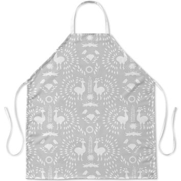 CHRISTMAS SCANDINAVIAN GREY Apron By Terri Ellis