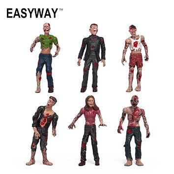 Mr.Froger Zombie The Walking Dead Resident Evil Figure Action Freddy Toys Soldiers Terror Movies Crazy Toys Hot Zombies Set Game