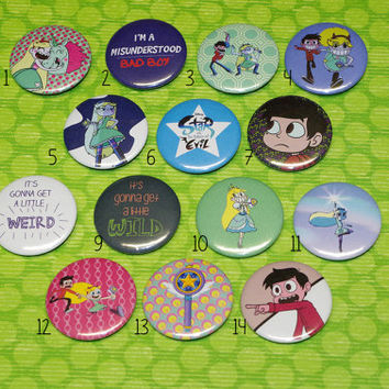 Star vs the Forces of Evil pin buttons - 37 mm/1,46""