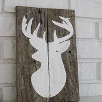 Big Buck Hunter Rustic Handmade Hand Painted Reclaimed Wood Sign