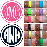 USA Customize Monogram Decal , Personalize Monogram Sticker , Vinyl Decal , Vinyl Sticker , For Your Car , Laptop , Window , Door , phone