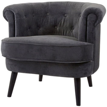 Clyde Tufted Grey Club Chair