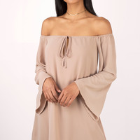Tori Off Shoulder Shift Dress