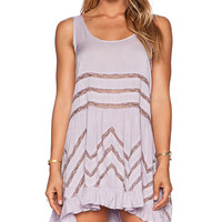 Free People Tiny Dot Trapeze Slip in Purple